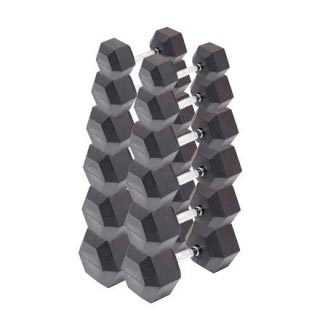 Гантели гексагональные 6 пар от 12,5 до 25 кг