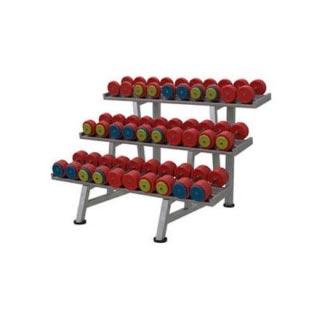 Гантельный ряд 21-56 кг, цветной